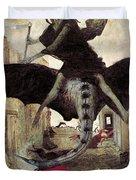 The Plague Duvet Cover by Arnold Bocklin