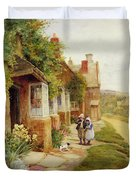 The Puppy Duvet Cover by Arthur Claude Strachan