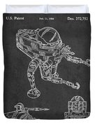 Toy Space Vehicle Patent Duvet Cover by Aged Pixel