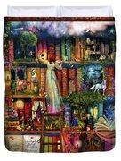 Treasure Hunt Book Shelf Duvet Cover by Aimee Stewart