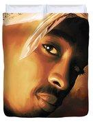 Tupac Shakur Duvet Cover by Sheraz A
