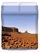 Utah's Iconic Monument Valley Duvet Cover by Christine Till