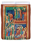 Vikings Invade England 9th Century Duvet Cover by Photo Researchers