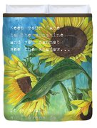 Vince's Sunflowers 1 Duvet Cover by Debbie DeWitt