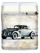 Vintage Car Duvet Cover by David Ridley
