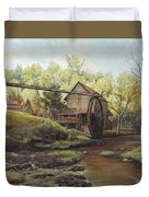 Watermill At Daybreak  Duvet Cover by Mary Ellen Anderson
