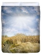 Wetland Walk Duvet Cover by Les Cunliffe