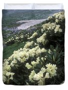 Wild Rhododendrons On A Hillside Duvet Cover by Anonymous