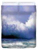Wild Waves in Cornwall Duvet Cover by Terri  Waters