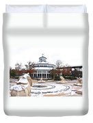 Winter In Coolidge Park Duvet Cover by Tom and Pat Cory