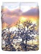 Wintry Sunset Duvet Cover by Will Borden