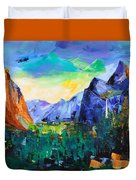 Yosemite Valley - Tunnel View Duvet Cover by Elise Palmigiani