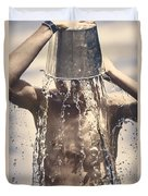 Young Man Having Fun On A Tropical Summer Holiday Duvet Cover by Jorgo Photography - Wall Art Gallery