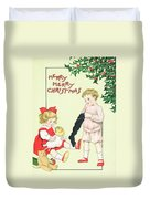 Christmas Card Duvet Cover by English School