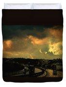 12 Days Of Rain Duvet Cover by Taylan Apukovska