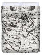 1719 Mallet Map of the Source of the Nile Ethiopia Duvet Cover by Paul Fearn
