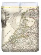 1775 Janvier Map of Holland and Belgium Duvet Cover by Paul Fearn