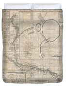 1784 Tiefenthaler Map of the Ganges and Ghaghara Rivers India Duvet Cover by Paul Fearn