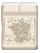 1799 Clement Cruttwell Map Of France In Departments Duvet Cover by Paul Fearn