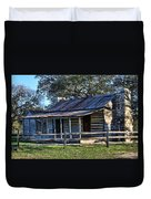 1860 Log Cabins Duvet Cover by Linda Phelps