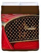 1904 Franklin Open Four Seater Grille Emblem Duvet Cover by Jill Reger
