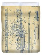 1908 Flute Patent - Vintage Duvet Cover by Nikki Marie Smith