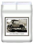 1911 Ford Model T Torpedo Duvet Cover by Jill Reger