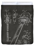 1915 Wrench Patent Artwork - Gray Duvet Cover by Nikki Marie Smith