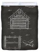 1920 Lincoln Log Cabin Patent Artwork - Gray Duvet Cover by Nikki Marie Smith