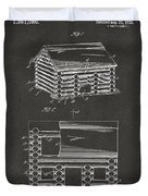 1920 Lincoln Logs Patent Artwork - Gray Duvet Cover by Nikki Marie Smith