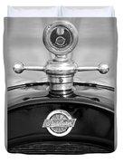 1922 Studebaker Touring Hood Ornament 3 Duvet Cover by Jill Reger