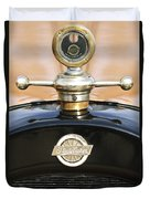 1922 Studebaker Touring Hood Ornament Duvet Cover by Jill Reger