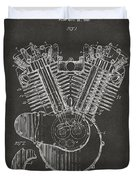 1923 Harley Engine Patent Art - Gray Duvet Cover by Nikki Marie Smith