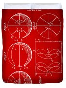 1929 Basketball Patent Artwork - Red Duvet Cover by Nikki Marie Smith