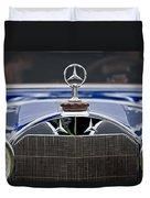 1929 Mercedes Benz S Erdmann And Rossi Cabiolet Hood Ornament Duvet Cover by Jill Reger
