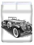 1930 Duesenberg Model J Duvet Cover by Jack Pumphrey