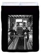 1930 Model T Ford Monochrome Duvet Cover by Steve Harrington