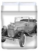 1931 Ford Convertible Duvet Cover by Jack Pumphrey