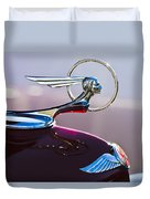 1933 Pontiac Hood Ornament Duvet Cover by Jill Reger