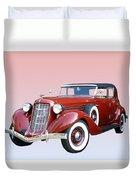 1935 Auburn 8 Phaeton 851 Duvet Cover by Jack Pumphrey