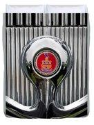 1935 Pierce-arrow 845 Coupe Emblem Duvet Cover by Jill Reger