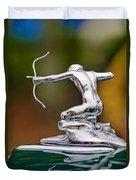 1935 Pierce-arrow 845 Coupe Hood Ornament Duvet Cover by Jill Reger