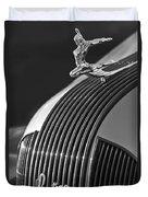1935 Pontiac Sedan Hood Ornament 3 Duvet Cover by Jill Reger