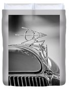 1936 Ford Deluxe Roadster Hood Ornament 2 Duvet Cover by Jill Reger