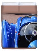 1937 Peugeot 402 Darl'mat Legere Speacial Sport Roadster Recreation Steering Wheel Emblem Duvet Cover by Jill Reger