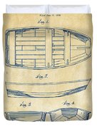 1938 Rowboat Patent Artwork - Vintage Duvet Cover by Nikki Marie Smith