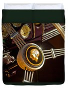 1939 Ford Standard Woody Steering Wheel Duvet Cover by Jill Reger