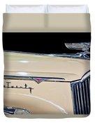 1941 Packard Hood Ornament Duvet Cover by Jill Reger