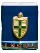 1942 Lincoln Continental Cabriolet Emblem Duvet Cover by Jill Reger