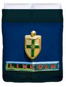 1942 Lincoln Continental Cabriolet Emblem Duvet Cover by Jill Reger